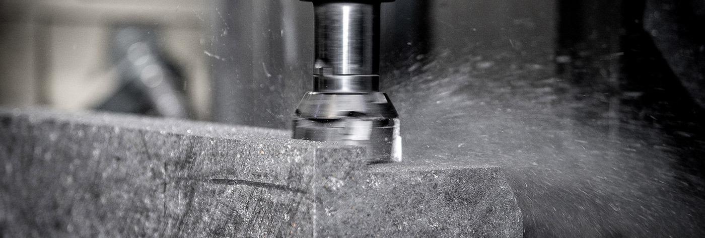 graphite being drilled