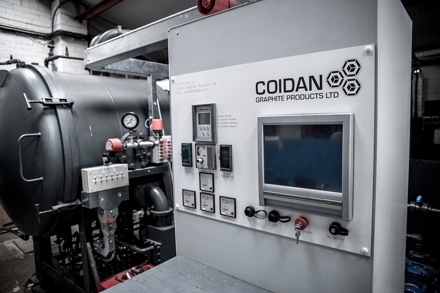 coidan graphite refurbished arc furnace