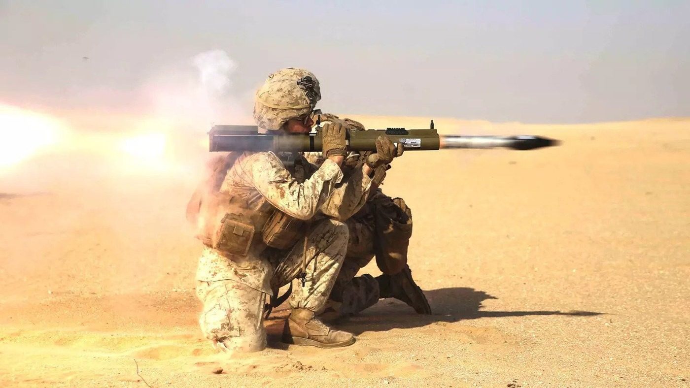 army soldier firing an RPG